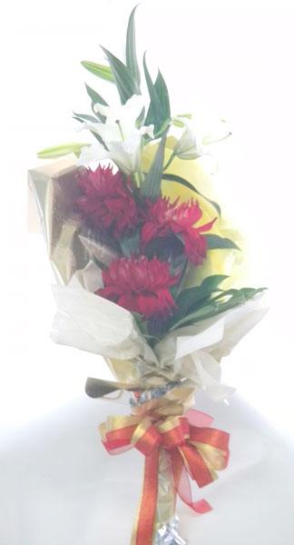 カサブランカとダリアの花束