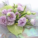 アンスリウムとトルコキキョウの花束