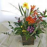 水仙と福寿草のアレンジ