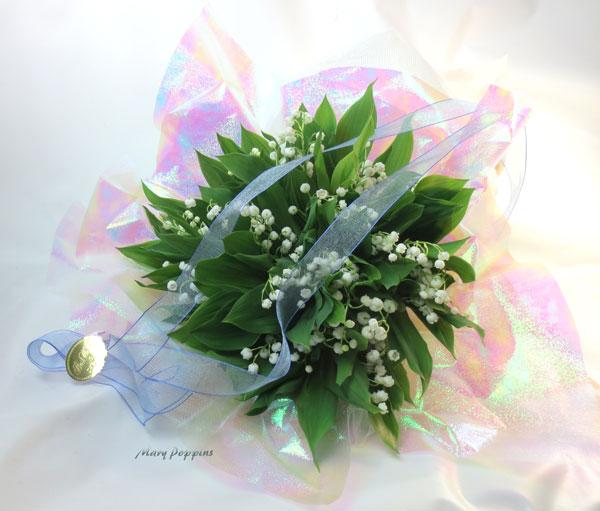 御誕生日祝いのスズランの花束