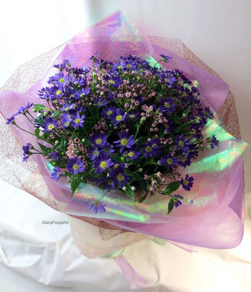 御誕生日祝いの都忘れの花束