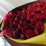 お誕生日お祝いのバラの花束