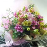 お誕生日プレゼントの花束