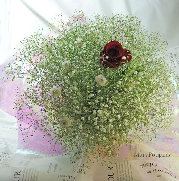 かすみ草の花束in My heart