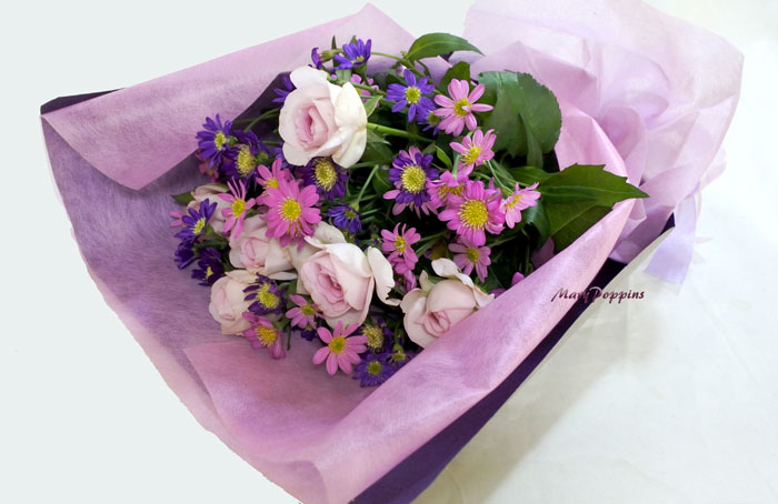 都忘れとバラの花束