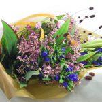 鉄砲百合とフジバカマの花束