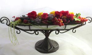 バラと蓮の実のコンポート