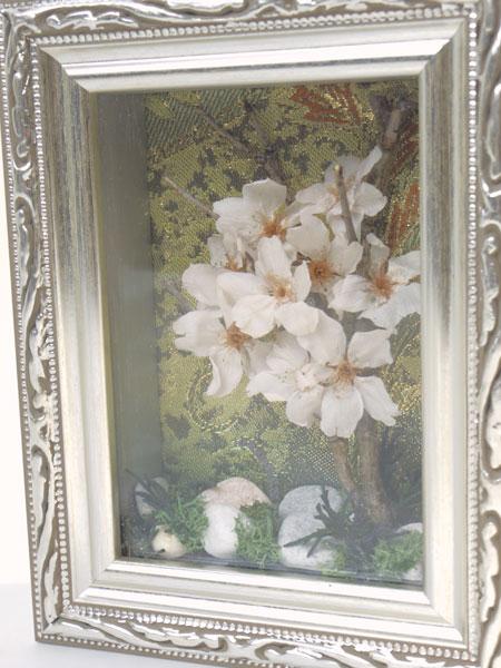桜のフレームアレンジ(シルバー)