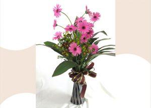 ポット付きガーベラの花束