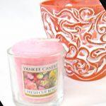 キャンドルホルダーとバラの香りのキャンドルセット