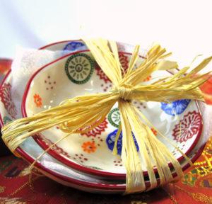花柄絵付け和皿のギフトセット