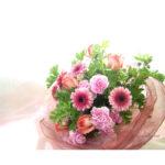 ゼラニウムとガーベラの花束