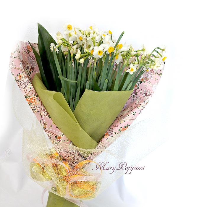 日本水仙の花束