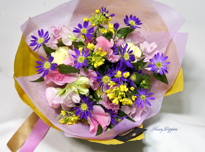 都忘れと菜の花の花束