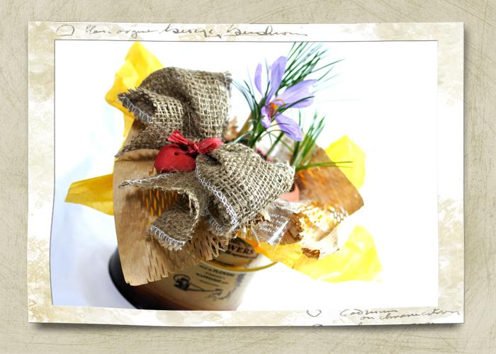 サフランの鉢植えギフト