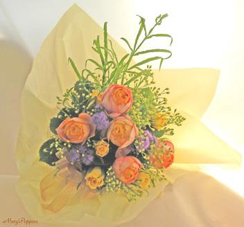 オレンジのバラの花束~Orenge-cute