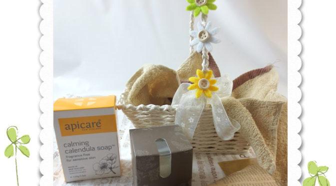 カレンジュラ(キンセンカ)のナチュラル・ソープと菩提樹の爽やかな香りのキャンドルのギフトセットです。