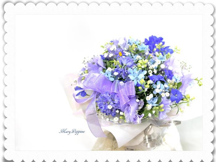 青い小花のアレンジメント〜blooms of blue2
