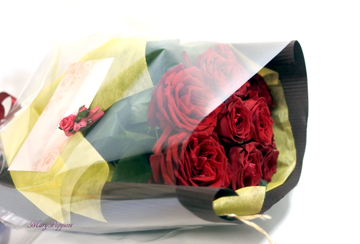 記念日の花束